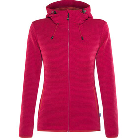 Meru Kalamata Fleece Hoodie Dames, raspberry striped